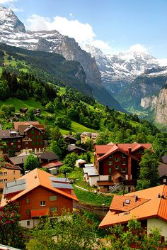 Mountain Village, Wengen, Switzerland