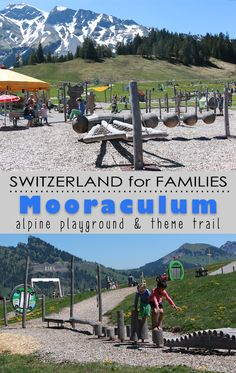Big playground in the Swiss alps, with lots of interactive play stations educating children about nature, particularly the endangered moor. There's water play, swings, slides, climbing stuff, obstacle courses, games, and a little scavenger hunt. There's even a short theme trail, with 18 stations. Great day out for the family.