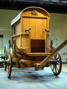 A wagon reconstructed from the metal fittings -- Römisch-Germanisches Museum Koln