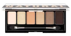 NYX Natural Eyeshadow Palette comes with six shades that natural yet pigmented enough to wear to any event. The darker shades allow you to create a gorgeous smokey look.