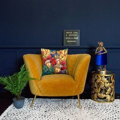 Tropical Monkey Velvet Cushion Cover - available from Audenza