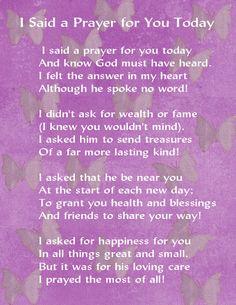 Gael's Crafty Treasures: I said a prayer for you today....