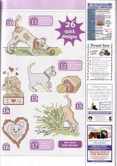 dogs and cat cross stitch