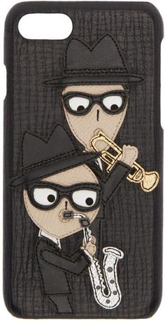 Dolce & Gabbana Black Sax Players iPhone 7 Case