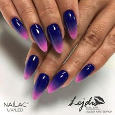 30 trendy manicure ideas in fall nail colors 2019 inspired 9 Ombre Nail Designs, Colorful Nail Designs, Acrylic Nail Designs, Nail Art Designs, Airbrush Nails, Best Acrylic Nails, Chrome Nails, Nagel Gel, Purple Nails