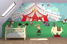 Cartoon Circus Wall Mural