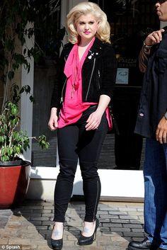 In the pink: Kelly Osbourne