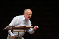 John Rutter, conducting in rehearsal by