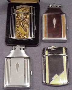 VINTAGE ART DECO RONSON CIGARETTE CASE/LIGHTERS