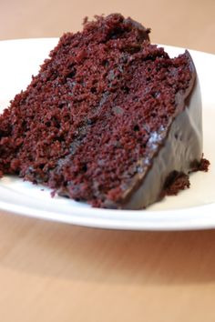 Best Vegan Chocolate Cake thinking about black forest cake for Sean's bday. Just add cherries and chocolate mousse.