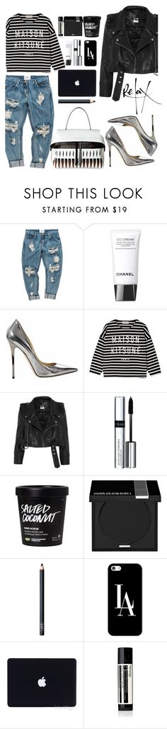 """""""Top Set September 11th -Keys To The Streets"""" by tamaramanhardt ❤ liked on Polyvore featuring Chanel, Jimmy Choo, Maison Kitsuné, Vetements, By Terry, MAKE UP FOR EVER, NARS Cosmetics, Casetify and Aesop"""