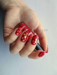 notd#rednails #glitter #nails #nailart - bellashoot.com