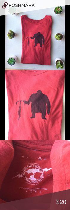 Big Foot Bicycle Size XL Super soft awesome Tshirt Endurance  Conspiracy  Shirts Tees - Short Sleeve