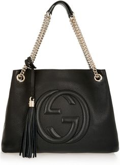 Gucci Soho Medium Textured-Leather Shoulder Bag