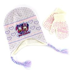 Minnie Mouse and Daisy Duck Toddler Hat with Mittens (Off White) Disney  http  0ba734369baa
