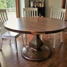 Round Tables Joliet, IL - Rustic Elements Furniture 60 Inch Round Table, Round Tables, Custom Furniture, Dining Table, Rustic, Wood, Kitchen Island, Home Decor, Bespoke Furniture