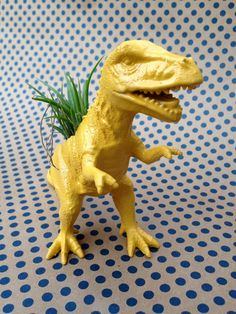 Animal Planter  Medium Dinosaur Planter  Painted by stringnthings, $14.00