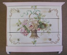 hand-painted vintage roses