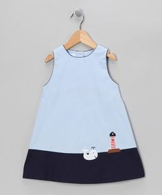 Take a look at this Navy Blue Whales and Sails Dress - Toddler & Girls by Betti Terrell on #zulily today!