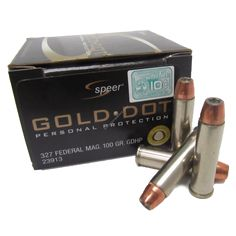 Speer Gold Dot 327 Federal Magnum 100Gr GDHP ammunition is among the top duty ammo on the market.
