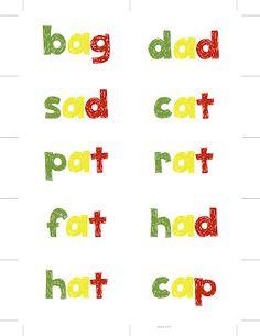 FREE CVC Word Card Template