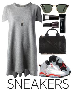 """monotone"" by michelledhrm ❤ liked on Polyvore"