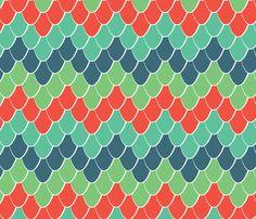 Snake Scale Chevron fabric by bojudesigns on Spoonflower - custom fabric