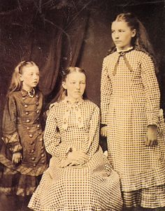 Laura Ingalls Wilder (she's the one standing on the right)