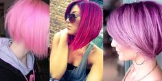 Verwandeln Sie Ihren Bob-Haarschnitt in eine auffällige Frisur mit rosa Farben! Hair Color Pink, Hair Color And Cut, Pink Hair, Hair Colors, Bob Hairstyles, Bob Haircuts, Love Hair, New Hair, Hair Care