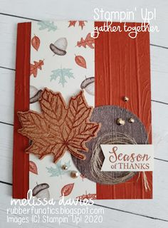 RubberFUNatics: CCMC Saturday Blog Hop - Thinking of Fall Fall Cards, Holiday Cards, Holidays In May, Bird On Branch, Thanksgiving Cards, Touch Of Gold, Card Making Inspiration, Card Kit, My Stamp