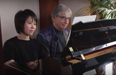 Pianist Yuja Wang with one of her mentors, music director of the San Francisco Symphony Michael Tilson Thomas.
