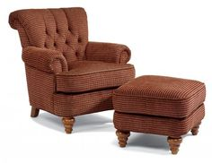 South Hampton Fabric Chair without Nailhead Trim by #Flexsteel via Flexsteel.com