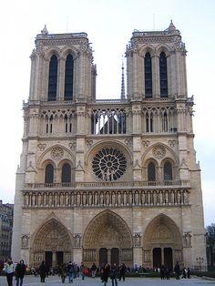 * Notre Dame de Paris (Notre Dame Cathedral),  Roman Catholic Marian cathedral, Paris, France