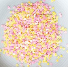 Herz Pailletten pink-gelb www.papercrafts.ch