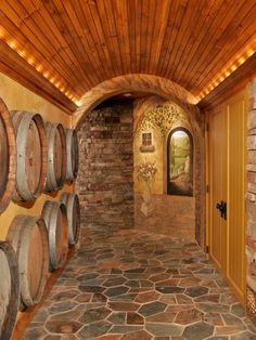 Tuscan Wine Cellar - mediterranean - Wine Cellar - Other Metro - Teakwood Builders, Inc. Wine Cellar Basement, Basement Remodeling, Basement Ideas, Basement Entrance, Basement Plans, Basement Flooring, Flooring Ideas, Wine Cellar Design, Tuscan House