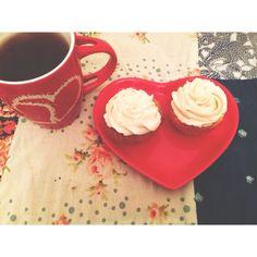 Cupcakes durazno con Buttermilk de frutilla