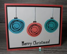 Stampin' Up Christmas card made with the Swirly Bird stamp set designed by demo Beth McCullough. See more card and gift ideas at www.StampingMom.com #StampingMom