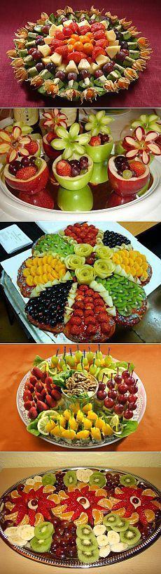 Brunch Recipes, Appetizer Recipes, Appetizers, Fruit Platter Designs, Baby Shower Cake Designs, Veggie Display, Fruit Sculptures, Food Carving, Food Garnishes
