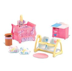 fisher price loving family dollhouse grand furniture 2 baby booster seats table fisher. Black Bedroom Furniture Sets. Home Design Ideas