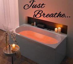 Just Breathe  Vinyl Wall Art  Decal  by StellasVinylWallArt, $16.00