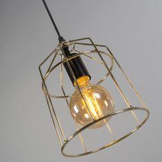 Lámpara colgante FRAME B oro #iluminacion #decoracion #interiorismo