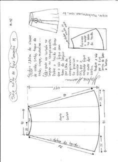 falda-pareo-para-la-playa-M. Skirt Patterns Sewing, Clothing Patterns, Skirt Sewing, Pattern Cutting, Pattern Making, Sewing Clothes, Diy Clothes, Sewing Tutorials, Sewing Projects
