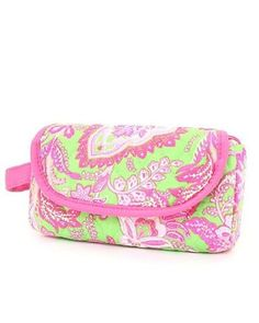 """Belvah Quilted Floral Cosmetic Purse with Flap Closure (Lime/Fuchsia) Belvah. $12.95. This trendy case can be used to store small accessories such as make-up, pencils, and etc. Perfect to take around anywhere!. Materials :Cotton. Velcro & Zipper Closure. Length/Height/Width : 7.5"""" / 4.5"""" / 2.0"""""""