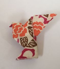 Broche origami colombe rouge en papier washi traditionnel : Broche par washi-art