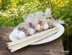 Smores in a bag: great idea for outdoor wedding guests #celiagrace #weddinginspiration #campfire #summer  Photo by Michelle Girard
