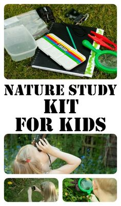 Put together your own Nature Study kit for the kids this summer and watch as they go screen free and explore the world around them