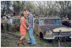 Colorado Mountain engagement photos * Junkyard engagement photos