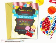 Carnival Birthday Invitation Circus by PartyInvitesAndMore on Etsy