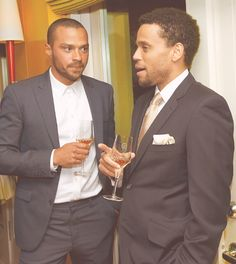 Jesse Williams and Michael Ealy- I wonder if they're talking about having pretty eyes ? ; )