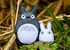 Felt Totoros  Pocket Plush Toys by nuffnufftoys on Etsy